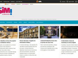 Revista SIM - Revista de Decoração e Arquitetura portfolio fortesweb