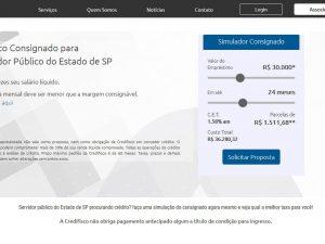 Servidor público de SP procurando crédito - Credifisco porftfolio fortesweb